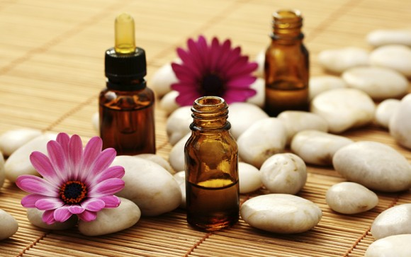 Essencial oils for aromatherapy massage