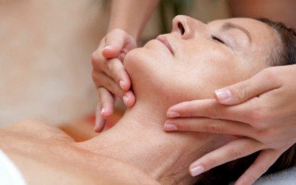 Lymph drainage facial for recovery from illness, surgery or feeling run down