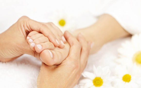 Foor reflexology and foot massage