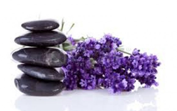 Hot stone massage and aromatherapy